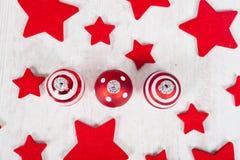 Christmas balls and stars Royalty Free Stock Photo