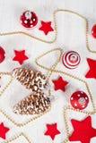 Christmas balls and stars Stock Photo