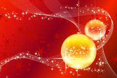 Christmas balls with stars and waves Stock Photos
