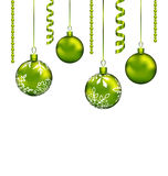 Christmas balls with streamer and copy space for your text. Illustration Christmas balls with streamer and copy space for your text - vector Stock Illustration