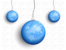 Christmas balls on a string Royalty Free Stock Photos