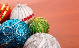 Christmas balls on the table Stock Image