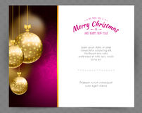 Christmas balls template background. Vector illustration of Christmas balls template background Royalty Free Stock Photography