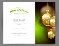 Christmas balls template background. Vector illustration of Christmas balls template background Stock Photo