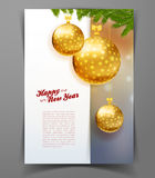 Christmas balls template background. Vector illustration of Christmas balls template background Royalty Free Stock Images