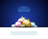 Christmas balls template background. Vector illustration of Christmas balls template background Royalty Free Stock Photos