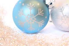 Christmas balls and a tinsel Royalty Free Stock Photo