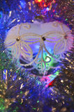 Christmas balls and tinsel Royalty Free Stock Photo