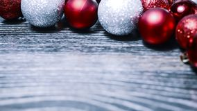 Christmas balls and tinsel to decorate the house. Colorful garla. Christmas balls and tinsel to decorate the house. r Stock Photo