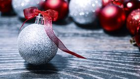 Christmas balls and tinsel to decorate the house. Colorful garla. Christmas balls and tinsel to decorate the house. r Stock Image