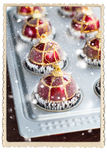 Christmas Balls Toy Baking Sheet Preparation Stock Photography