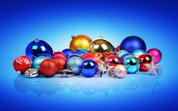 Christmas balls and toys Stock Photo