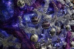 Christmas balls. Christmas tree and Christmas balls Stock Photo