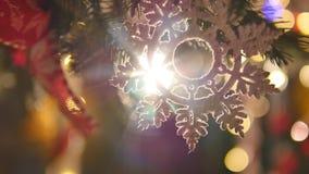Christmas Balls on Christmas Tree. close up. selective focus Stock Photos