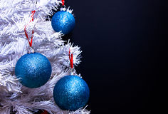 Christmas balls on tree close up Royalty Free Stock Photography
