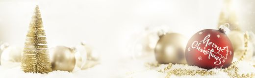 Christmas balls and tree Royalty Free Stock Photo