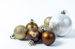 Christmas Balls. Christmas tree balls decoration on white Royalty Free Stock Images
