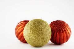 Christmas balls. Christmas tree decoration on a white background Royalty Free Stock Photography