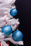 Christmas balls on tree Stock Photos