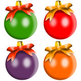 Christmas balls various colors Royalty Free Stock Photography