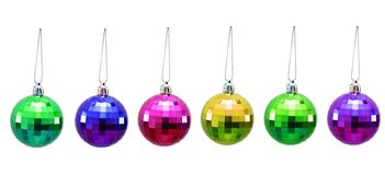 Christmas balls of various colours Royalty Free Stock Photos