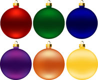 Christmas balls (vector) Royalty Free Stock Photography