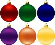 Christmas balls (vector) Royalty Free Stock Photography