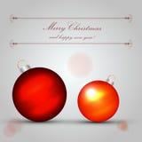 Christmas Balls Vector Royalty Free Stock Photos