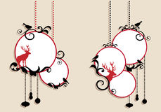 Christmas balls, vector Stock Image
