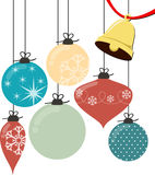 Christmas balls vector Royalty Free Stock Image