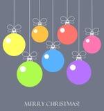 Christmas balls vector card Royalty Free Stock Image