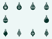 Christmas balls. Vector icons Stock Images