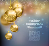 Christmas balls. Vector illustration of Christmas balls on abstract background Royalty Free Stock Images