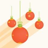 Christmas balls. vector illustration. Christmas balls with ribbons. Digital Illustration Stock Photo