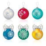 Christmas balls. Vector illustration of Christmas balls in three different colours vector illustration
