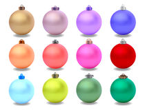 Christmas balls vector Royalty Free Stock Images