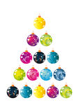 Christmas balls vector size Stock Photo