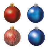 Christmas balls. Vector. The symbol of the new year.. On white background Royalty Free Stock Photos