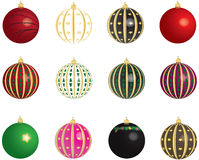 Christmas Balls Vectors Set Stock Photos