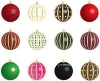 Christmas Balls Vectors Set. Set of vectors - Christmas balls on white background Stock Photos