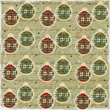 Christmas Balls Vintage Style Paper stock illustration