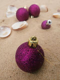 Christmas balls violet Royalty Free Stock Photo