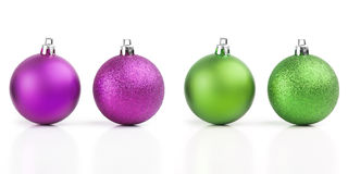 Christmas balls vivid color Stock Photography