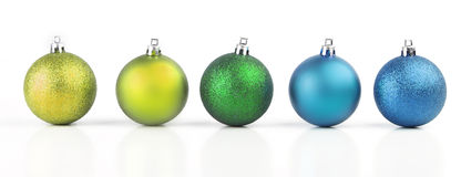 Christmas balls with vivid colors Royalty Free Stock Photography