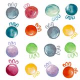 Christmas balls watercolor stock illustration