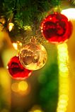 Christmas balls - Weihnachtskugeln Stock Image