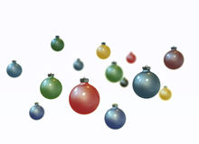 Christmas balls on white Royalty Free Stock Photography