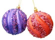 Christmas balls on white Royalty Free Stock Image