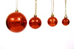 Christmas balls on a white bac Stock Photos