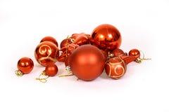 Christmas balls on a white bac Stock Photo